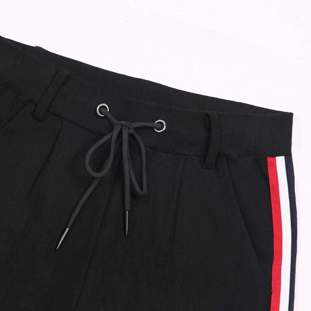 Pantalon Chino Femme Printemps Automne Pantalon Sport Elégante Mode  Pantalon Taille Haute Casual Uni Manche Rayures ... ba43456c9f8