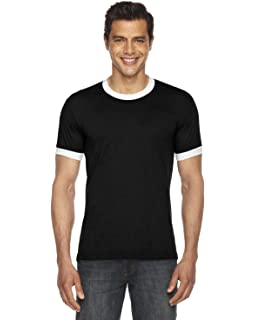 b5cf3c40 American Apparel Girls Poly-Cotton Short-Sleeve Ringer T-Shirt (BB410W)