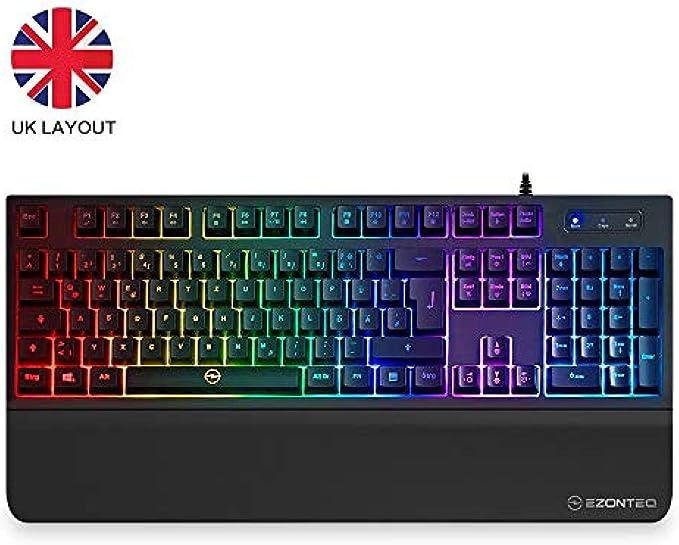 WUXXXTeclado para juegos, teclado mecánico para computadora ...