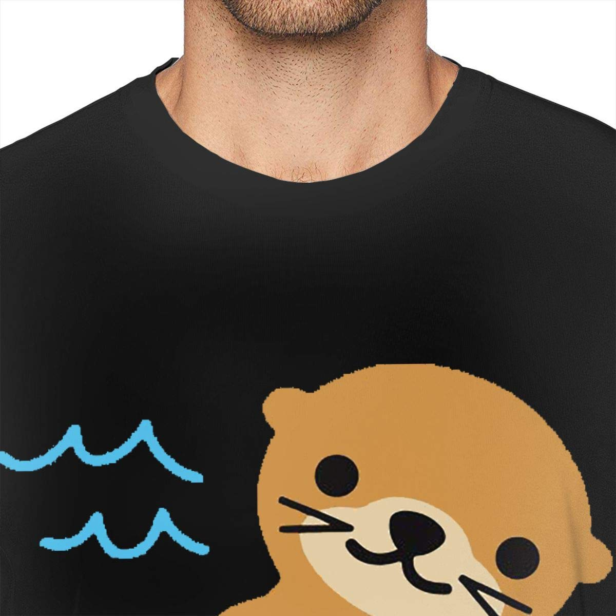 Reagan Mens Otter with Pizza Trend Tee Shirt