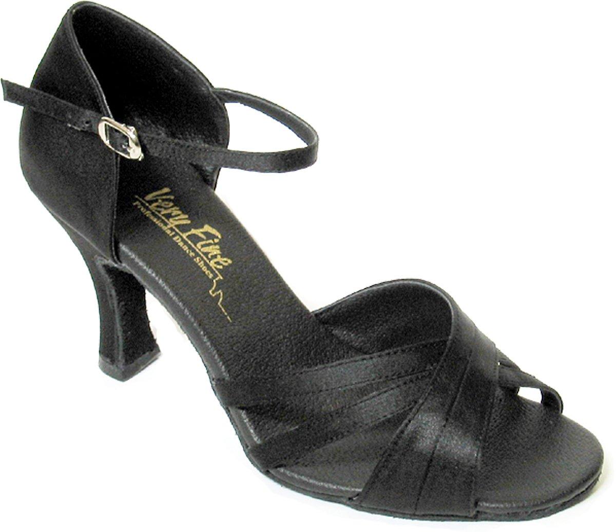 Very Fine Dance Shoes Womens Salsa Footwear Style 6030 Black 8.5 B M Size
