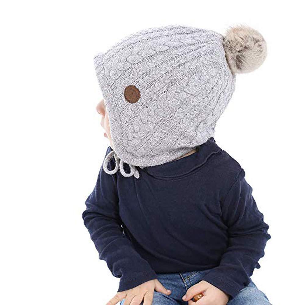 Baby Winter Ohr Flap Beanie Junge M/ädchen Bommel Stricken h/äkeln Hut M/ütze Huhu833 Kinder Kleinkind M/ütze