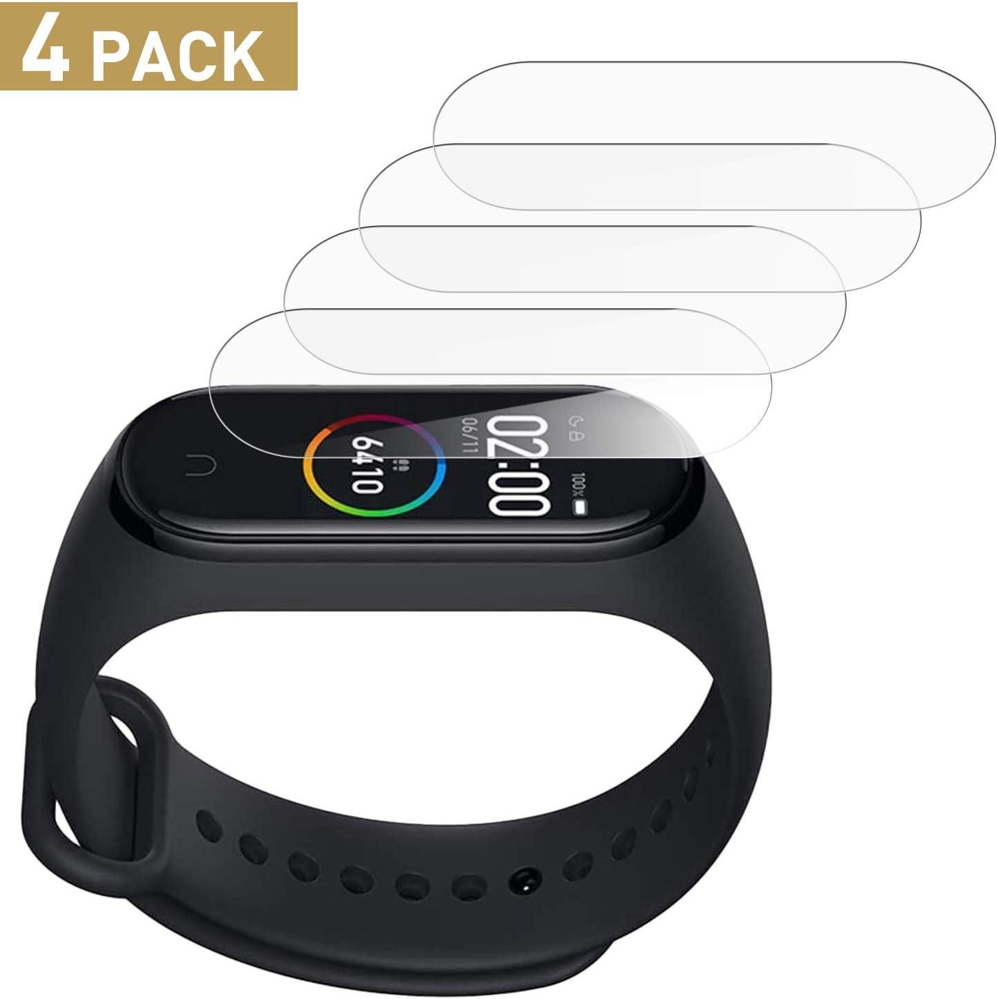 SNUNGPHIR Protector de Pantalla Xiaomi Mi Band 4, 4Pcs Protector Pantalla de Película Suave TPU Compatible con Xiaomi Mi Band 4, Alta Definición y Sensibilidad, Sin Burbujas [Soft Film]: Amazon.es: Electrónica