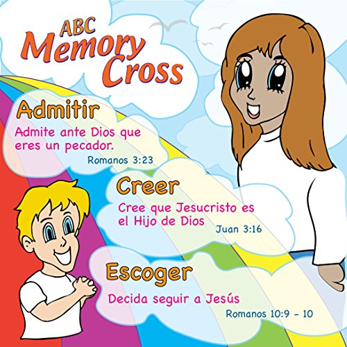 Memory Cross Spanish Christian Gospel Tracts For Children By 24 Cards Per Pack