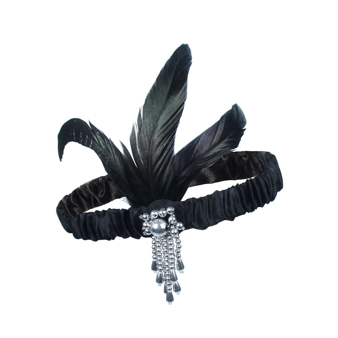 ResPai 1920s Accessories Fashion Set Roaring 20\'s Great Gatsby Theme Party Flapper Headband Headpiece Long Black Gloves Necklace Cigarette Holder Costume Accessories For Women (Elizabeth)
