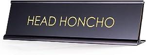 Head Honcho - Black Desk Name Plate for Boss