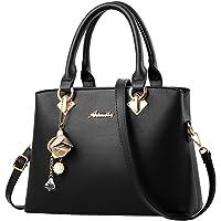 Women's Girls Handbag Shoulder Tote Bag PU Leather Crossbody Handbag Ladies Satchel Purse Great Gift to Mom/Wife…