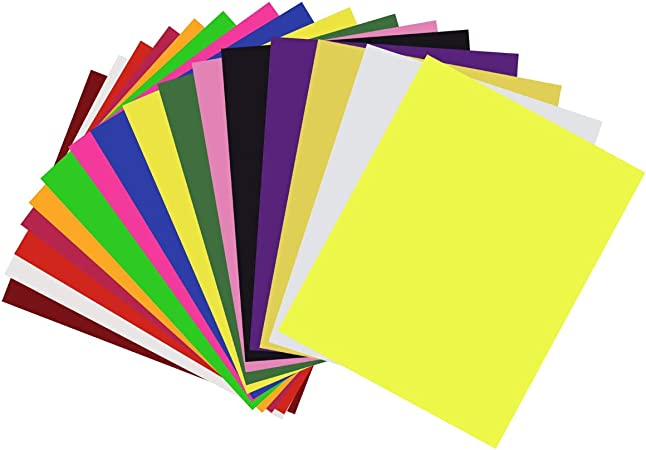 Sunreek transfert de chaleur en vinyle HTV Bundle 30,5 x 25,4 cm-Lot de 12 couleurs fer sur T-shirt en vinyle Feuilles de Transfert