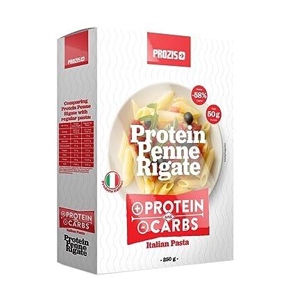 Prozis Protein Penne Rigate 250g: Pasta con Alto Contenido Proteico - Ideal para Dietas Bajas
