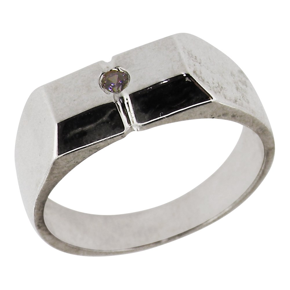 925 Sterling Silver Natural Diamond Womens Modern Ring (0.03 cttw, H-I Color, I2-I3 Clarity)