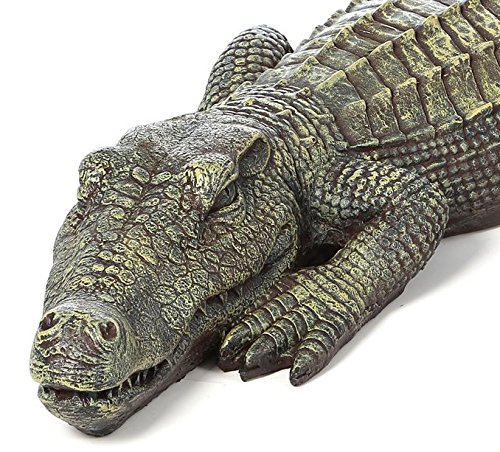 Crocodile Garden Statue- The Swamp Beast Statue Is a Perfect Garden Art- This Outdoor Animal Statue Is Handpainted, You Can Place This in Your Patio, Backyard, Lawn- A Beautiful Decor! by Design Toscano (Image #1)
