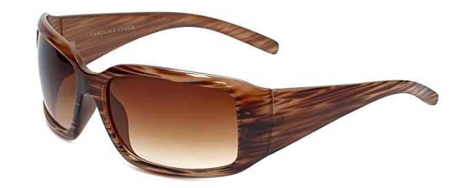 463f055413 Carolina Lemke Designer Sunglasses CL1030 Brown Stripe   Brown ...