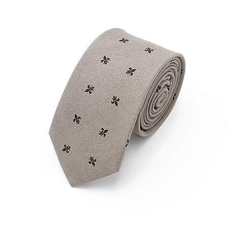 QX-DIMDIM Corbata de Flores Traje de Vestir de Moda Casual Corbata ...