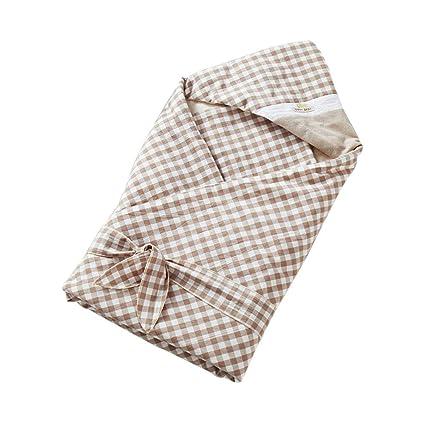 baby product Saco de Dormir de Tela Escocesa de algodón para bebés Manta Envuelta Universal,
