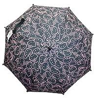 Hello Kitty Black Open/Closed/Winking Eyes Face Pattern Kids Umbrella