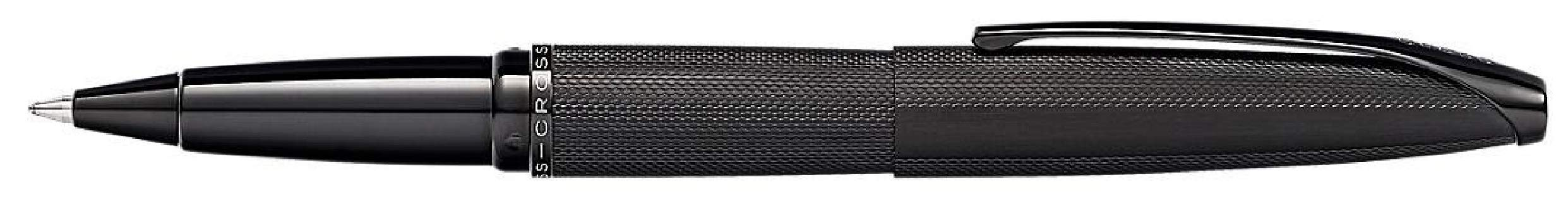 Cross ATX Brushed Black PVD Selectip Rollerball Pen with Etched Diamond Pattern by Cross (Image #3)