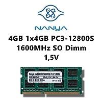 Nanya mémoire (1 x 4Go) dDR3 1600MHz (pC3 12800S sO-dimm pour ordinateur portable et notebook 1 mémoire rAM