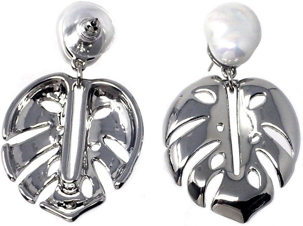 Pendientes Pertegaz colección Adán hoja perlas sintéticas [AB7179]