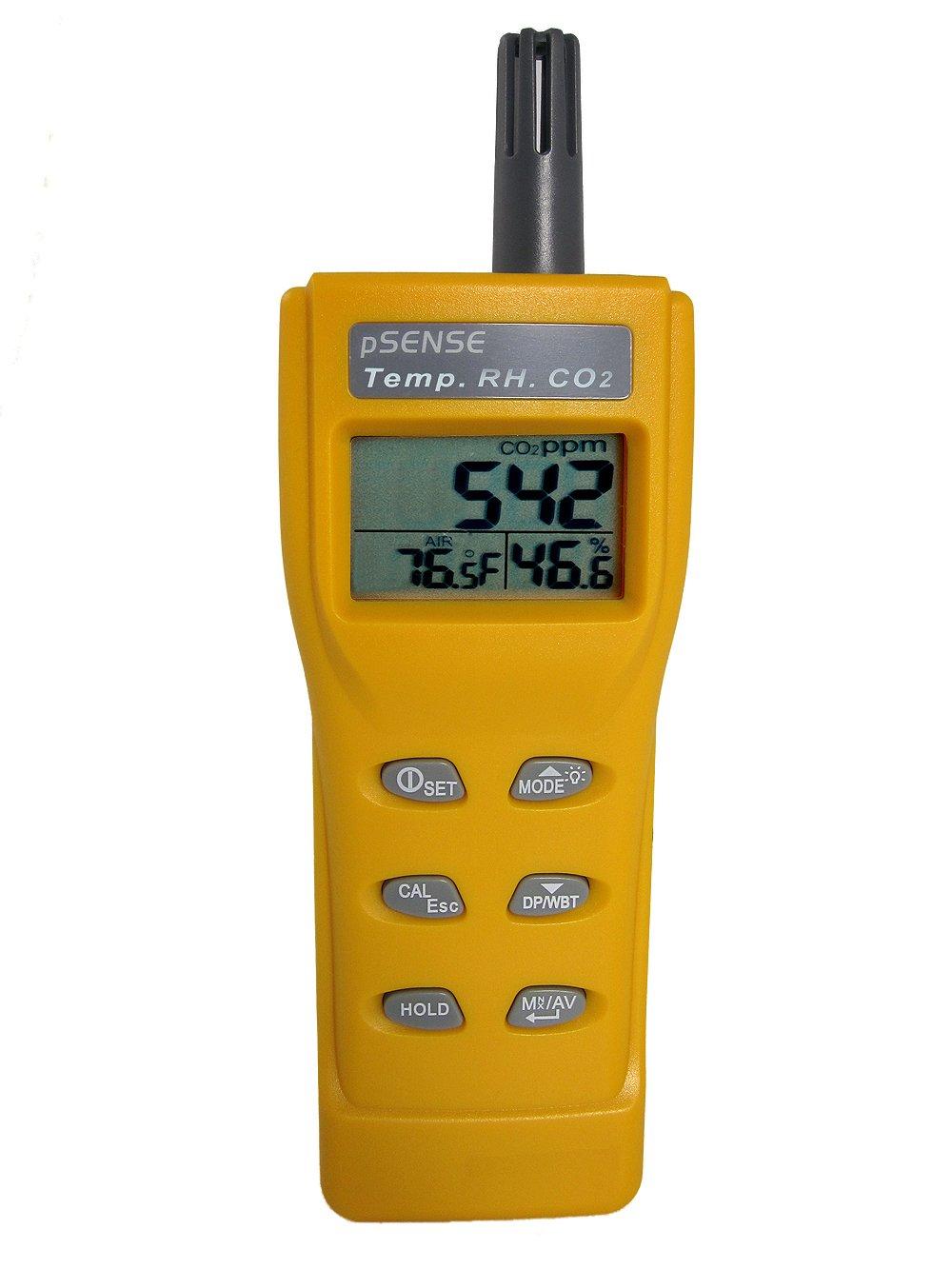 CO2Meter AZ-0001 pSense Portable CO2 Indoor Air Quality Meter, Yellow