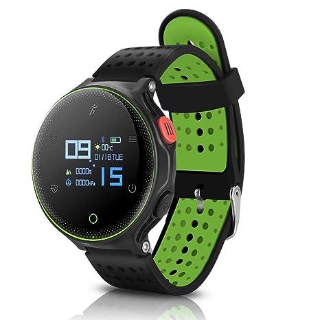 Sports Waterproof Bracelet Smart Watch, 3 Colors Microwear X2 Wireless Sports Waterproof Watch Heart Rate Monitor Fitness Tracker(Black Green)