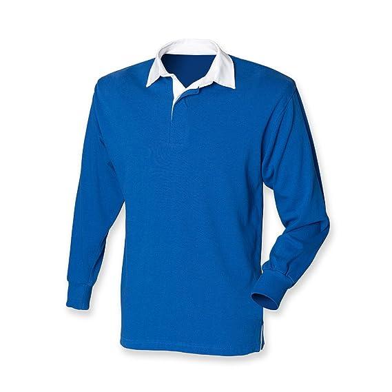 Camiseta polo, de Front Row, manga larga, de rugby, para hombre ...