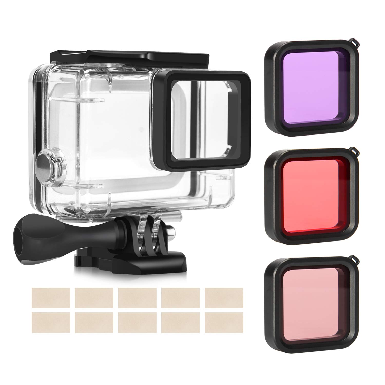 Custodia Protettiva Impermeabile/ /& Migliora Colori 3 Pack Filtro Immersione per GoPro Action Camera Rhodesy Custodia Protettiva Impermeabile per GoPro Hero 8 Black