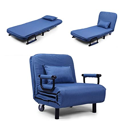 Amazon.com: Top_Quality555 Blue Convertible Sofa Bed Folding ...