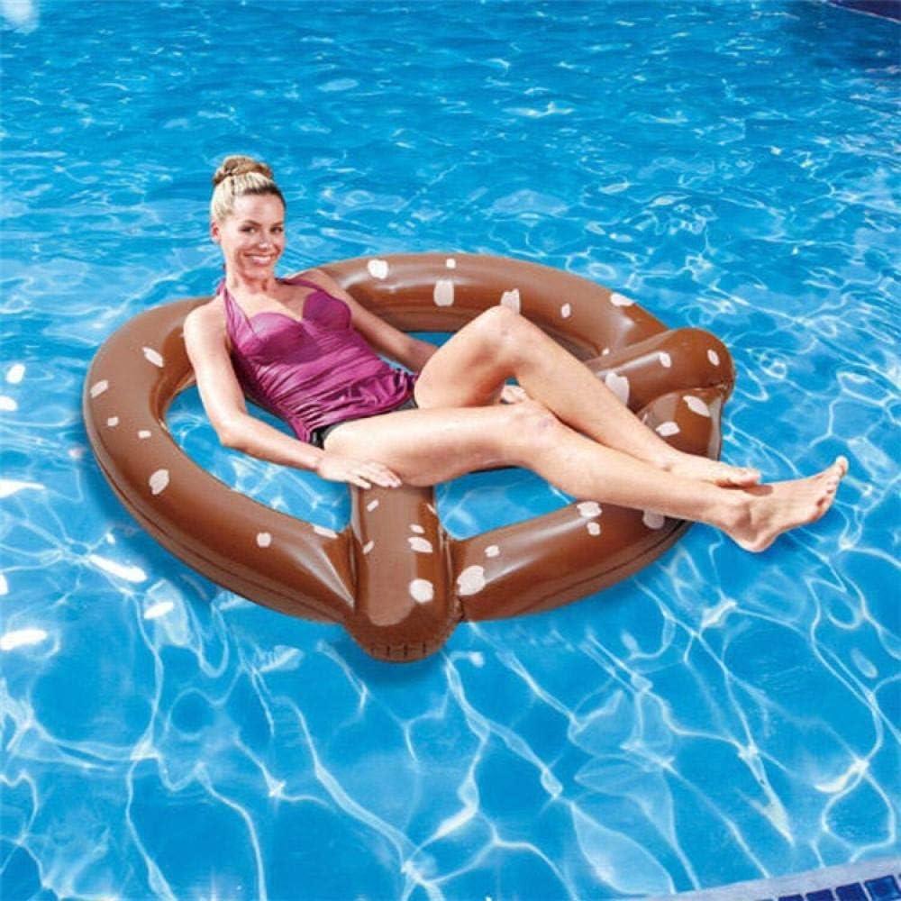 Alarmclocker8B Anillo de natación Inflable salón de Piscina Gigante Almohadilla de Flotador de Piscina para Adultos Anillo de natación Salvavidas balsa Piscina Juguete-Donut 140cm marrón