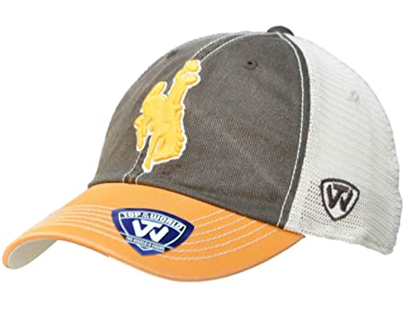 brand new 90681 476cc Image Unavailable. Image not available for. Color  Top of the World Wyoming  Cowboys Brown Gold Offroad Adjustable Snapback Hat Cap
