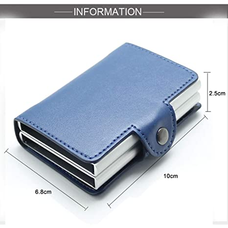 Billetera Hombre,Billetera,billeteras,Caja de Aluminio Doble automática de la Caja de