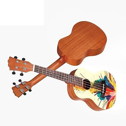 LINGZHIGAN Ukelele Guitarra Pequeña Principiante Estudiante Adulto ...