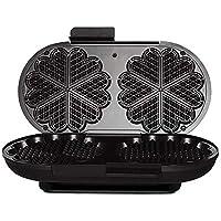 Wilfa HEARTS våffeljärn – laggar med 19 cm diameter, 1700 watt och signallampa, svart