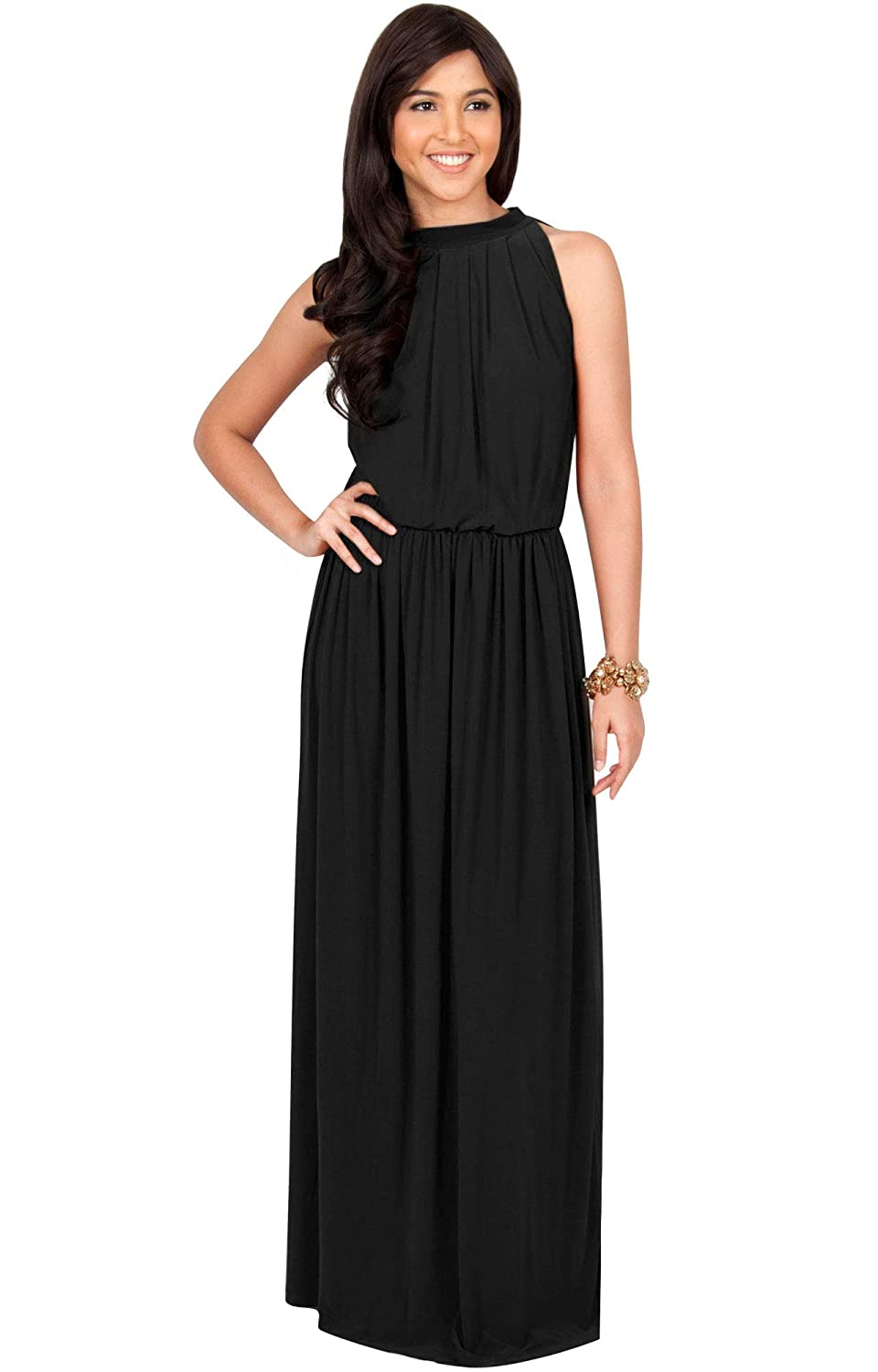 1fec05999d KOH KOH Sexy Sleeveless Summer Formal Flowy Casual Gown at Amazon Women s  Clothing store