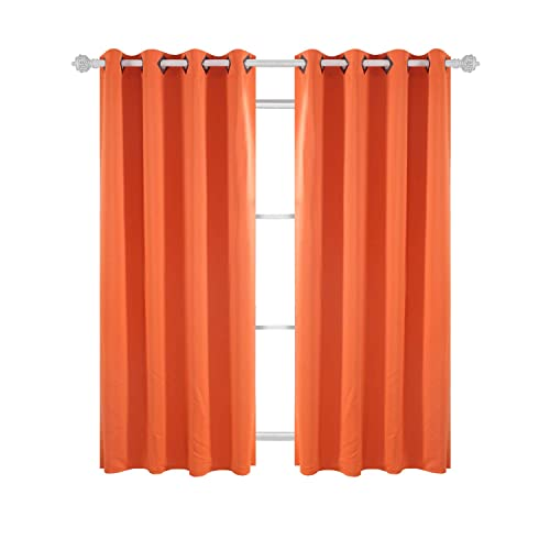 Deconovo Solid Blackout Curtains With Grommet Thermal Inshualted Window Curtains  Room Darkening Curtains For Dining Room