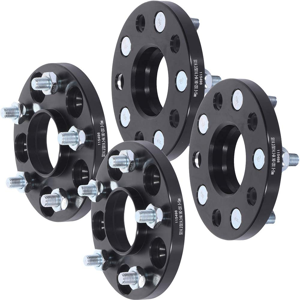 TUPARTS 5 Lug Wheel Spacers 5x4.5 to 5x4.5 12x1.5 64.1mm 15mm Replacement for 2001-2003 CL 2013-2015 ILX 1991-2005 NSX