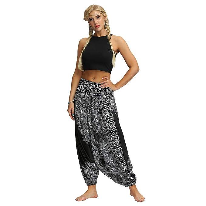 bonzaai Pantalones Harem Pantalones Arabes Ropa Boho Pantalon Palazzo Pantalon Hippie Estilo Bohemio Chic Naturverbunden LuckyGirls Chic INS Pantalones Yoga Mujeres