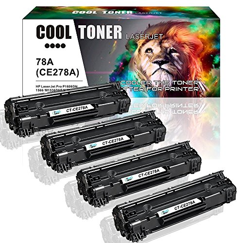 Cool Toner 4 Packs Compatible HP 78A CE278A Toner Cartridge for HP Laserjet P1606dn 1606dn HP Laserjet M1536dnf 1536dnf MFP HP Laserjet P1566 P1560 78A CE278A Toner Cartridge Printer Ink Black - Laserjet 2100 Printer