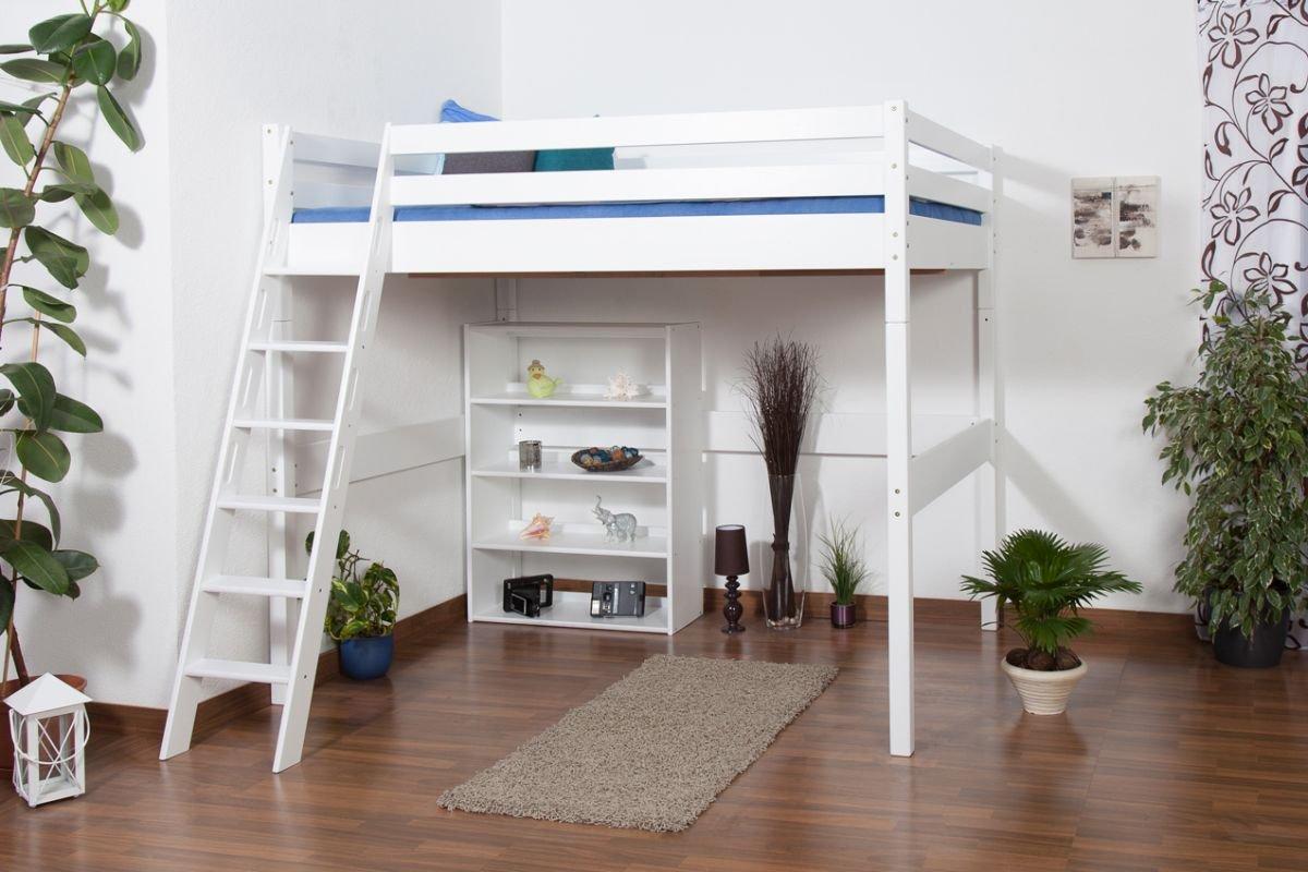 Hochbett Holz Massiv : Kinderbett hochbett christoph buche vollholz massiv weiß lackiert