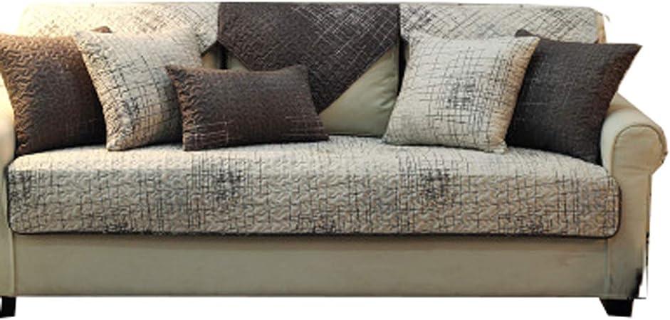DFamily Protector de sofá Muebles Algodón Antideslizante Funda Cubre sofá Cubre sofá para Mascotas Mascotas y los niños-F 90x90cm(35x35inch)(1 Pieza): Amazon.es: Hogar