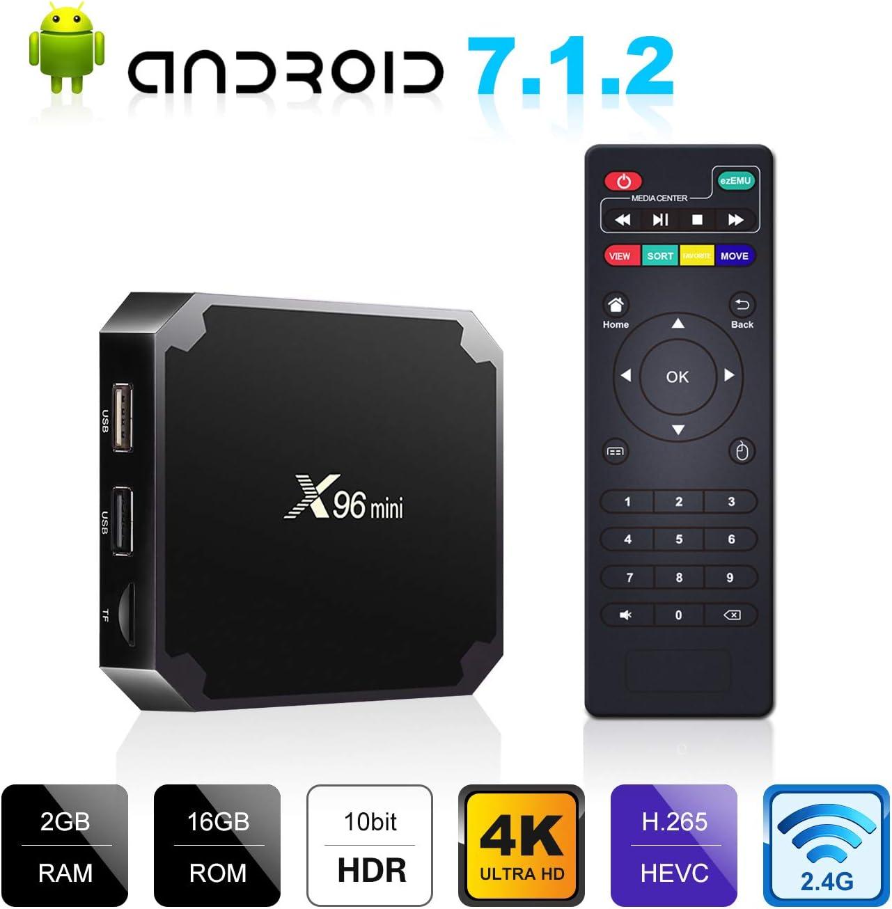 Keyboard US Stock X96 mini 4K 3D Android 7.1 Kd 18.0 TV Box 8G 16G S905W WIFI