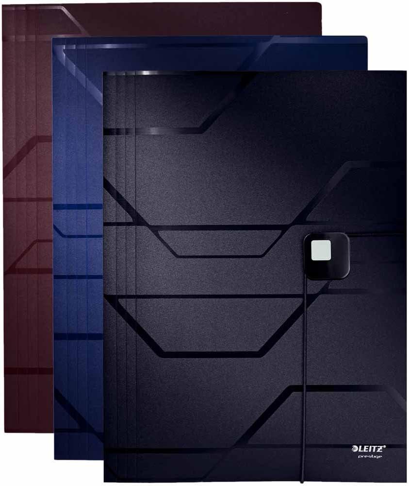 A4 blau PP Leitz Eckspannermappe Prestige