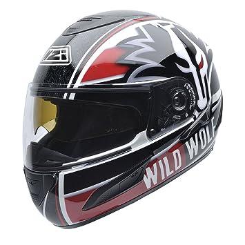 NZI 050250G437 Cursus II WW31 Casco de Moto, Talla XS, Negro y Rojo