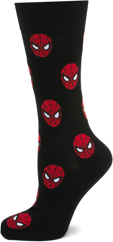 Marvel Spider-Man Black Dress Socks, Shoe Size 6-12, Size 10-13