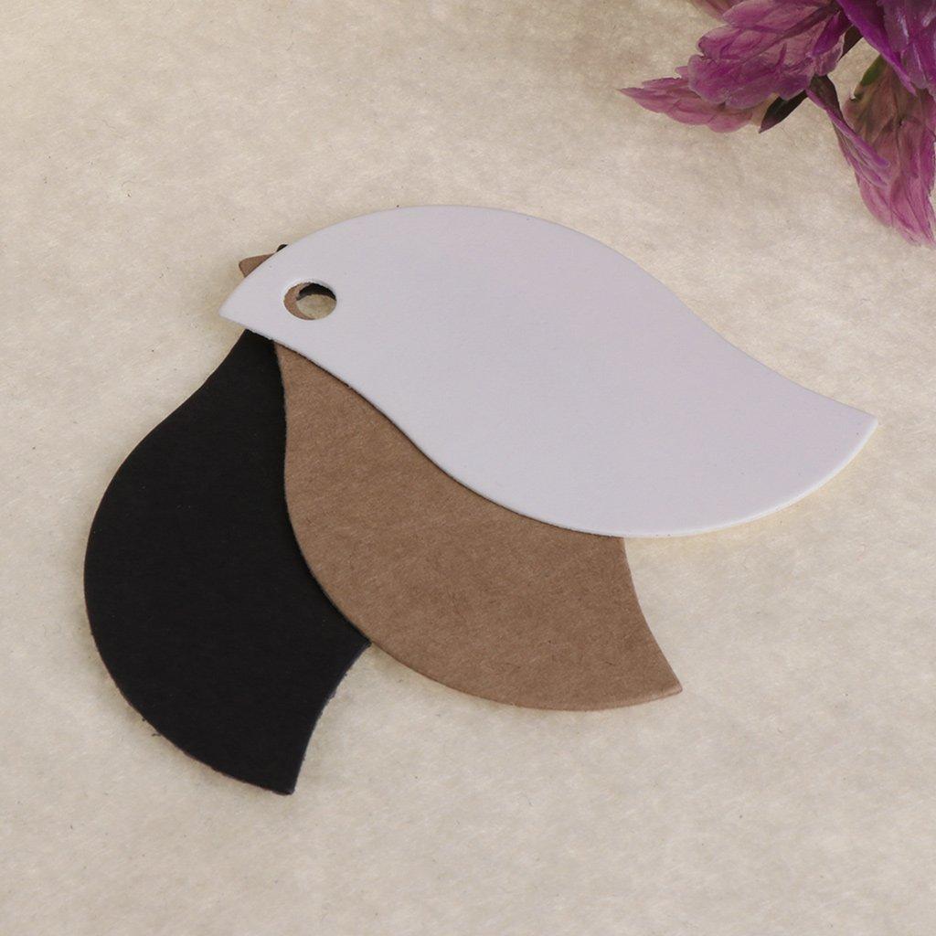 Kraft-Papier 2.17in Braun Lamdoo 100/PCS//Lot Papier Blanko Karte DIY Aufh/ängen Tag Label Loch Geschenke Blattform Schwarz 5.5cm