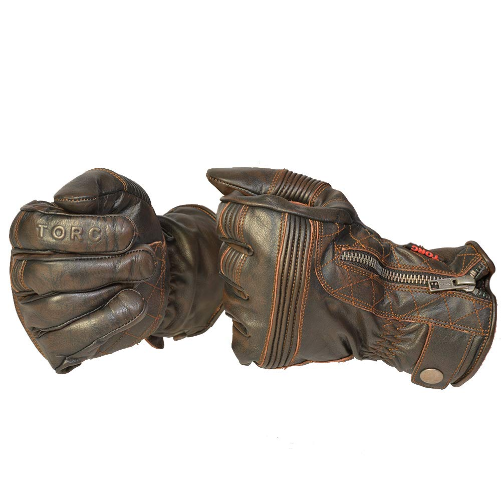 Cajon Brown-XLarge TORC TG57CAJ25 Cajon Brown X-Large TORC TG57CAJ25 Mens Classic Workman Street Motorcycle Gloves ,1