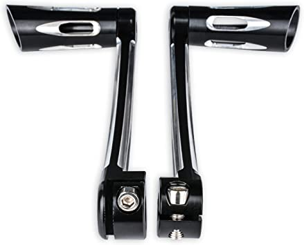 Set Brake Arm Peg Pedal with Front Rear Shift Levers Shifter Pegs Compatible with 2014-2017 Harley Touring FLH FLT