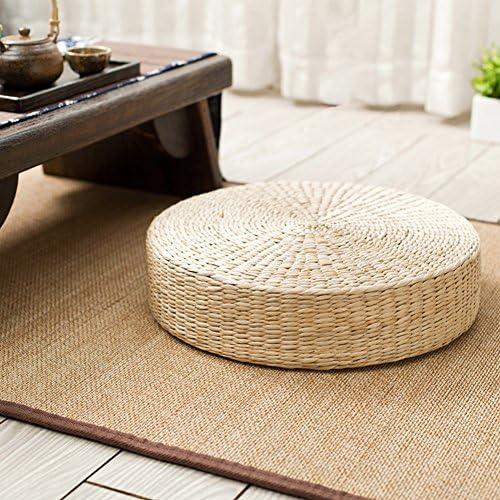 Sofa Cushion Grass Rattan Weaving Seat Mat Round Thick Decor Corn Straw Mat SM