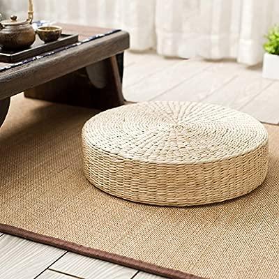 Amazon.com: Woven Rush Weave Grass Floor Cushion, Handmade ...