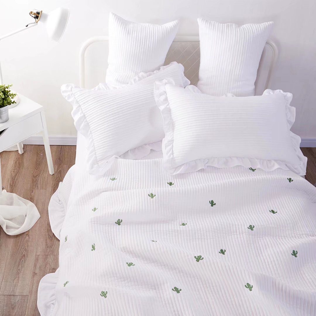 おしゃれ 高級カバー 綿100%  ベッドカバー 3点セット キルト キルティング ベッドキルト マルチカバー ソファーカバー EBODONG B076ZRHN35
