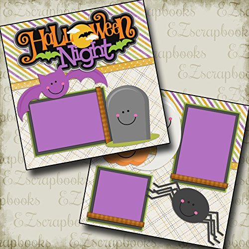 HALLOWEEN NIGHT - Premade Scrapbook Pages - EZ Layout 2156 (Halloween Double Page Layouts)